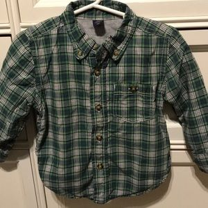 baby Gap lined button up shirt